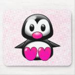 Pingouin rose mignon tapis de souris
