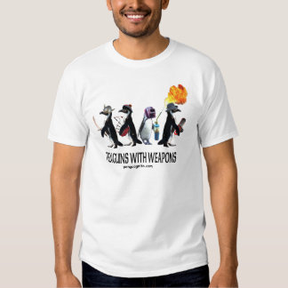 pingouins avec des armes t shirts