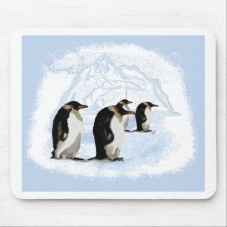Pinguine auf dem Eis Mouse Pad