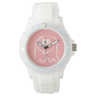 Pink 鬼 鬼 Stainless Steel Wristwatch (Sporty)