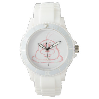 Pink 鲍 鲍 Stainless Steel Wristwatch (Sporty)