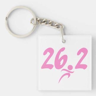 Pink 26.2 marathon acrylic keychain