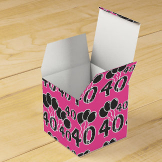 PINK 40th Birthday Party Favor Box - 40th Bday