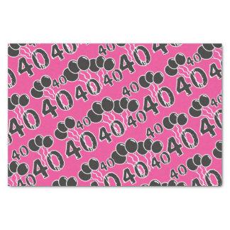 PINK 40th Birthday Tissue Paper