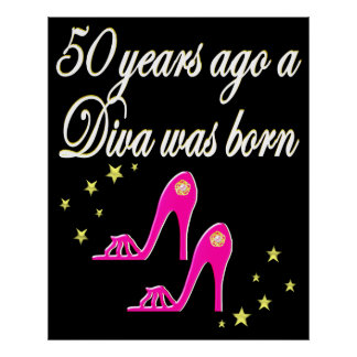 PINK 50TH BIRTHDAY FASHION QUEEN DESIGN POSTER