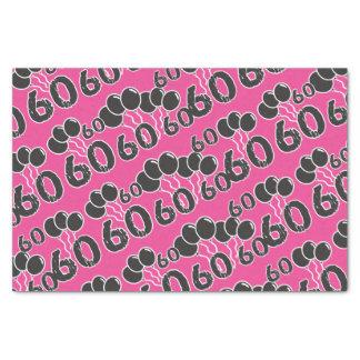 PINK 60th Birthday Tissue Paper
