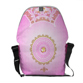 Pink 7th Chakra, Sahasrana Pink Bag by OmThat Courier Bag