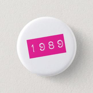 Pink 80s Retro Graphic Vintage Birthyear Birthday 1 Inch Round Button
