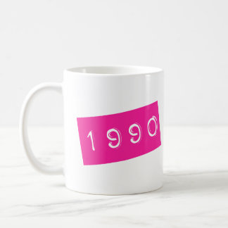 Pink 80s Retro Graphic Vintage Birthyear Birthday Coffee Mug