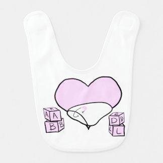 Pink ABDL Bib