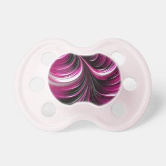 Pink abstract 3D art pattern Pacifier