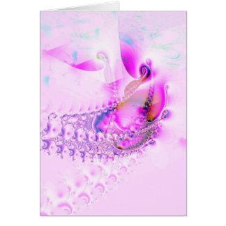 """Pink"" Abstract Art Notecard"