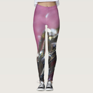 Pink abstract effect leggings. leggings