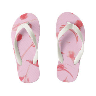 Pink Abstract Flip Flop