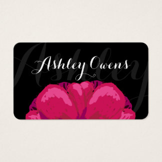 Pink Abstract Floral Business Card