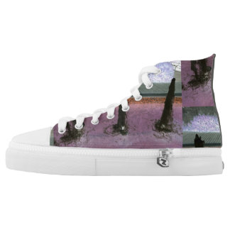 Pink abstract high tops