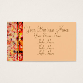 Pink Abstract Lace Roses Business Card
