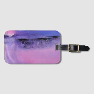 Pink Abstract Luggage Tag