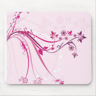 pink abstract mouse pad