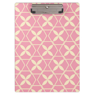 Pink Abstract Pattern by storeman Clipboard
