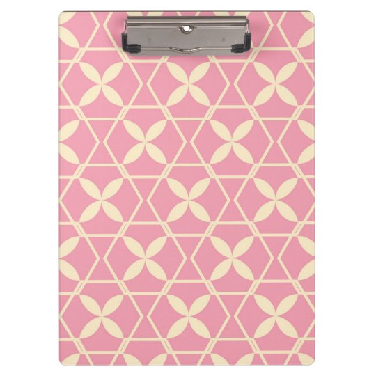 Pink Abstract Pattern by storeman Clipboards