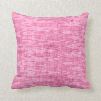 Pink Abstract Pattern Throw Pillows