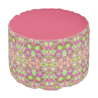 Pink Abstract Pouf