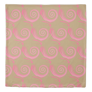 Pink Abstract Swirl Duvet Cover