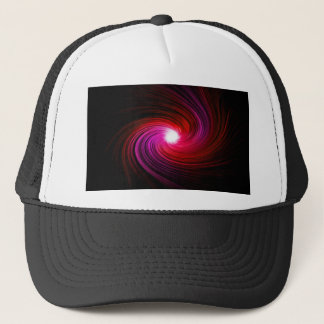 Pink abstract swirl. trucker hat