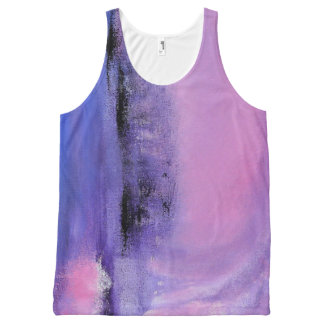 Pink Abstract Tank Top