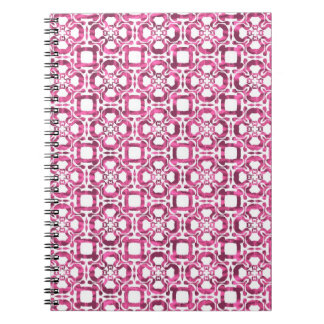 Pink Abstract Tile Pattern Journals