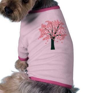 Pink Abstract Tree Pet T Shirt