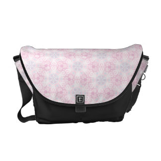 Pink Abstract Vector Pattern Messenger Bags
