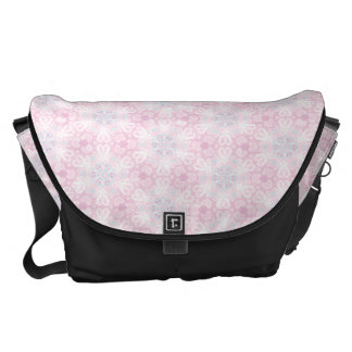 Pink Abstract Vector Pattern Commuter Bag
