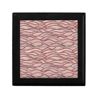 Pink abstract waves pattern. Sea texture. Gift Box