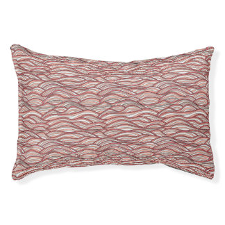 Pink abstract waves pattern. Sea texture. Pet Bed