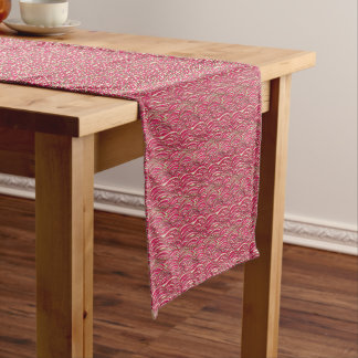 Pink abstract waves pattern. Sea texture. Short Table Runner