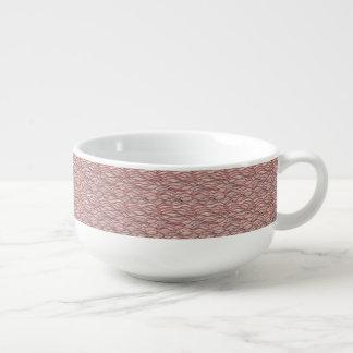 Pink abstract waves pattern. Sea texture. Soup Mug