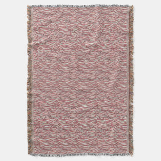 Pink abstract waves pattern. Sea texture. Throw Blanket
