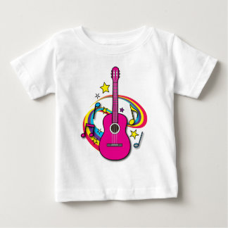 Pink Acoustic Guitar Baby T-Shirt