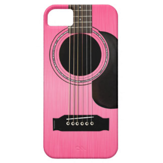 Pink Acoustic Guitar iPhone 5 Case