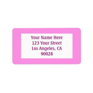 pink address label