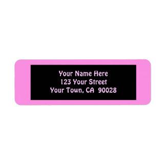 pink address return address label
