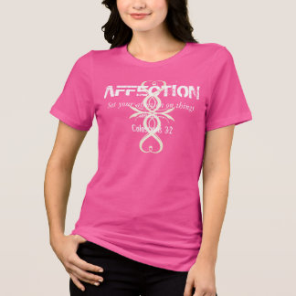 Pink AFFECTION Bible Verse Heart Cross Ladies Tee