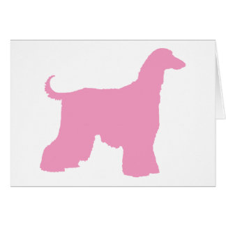 Pink Afghan Hound Dog Card
