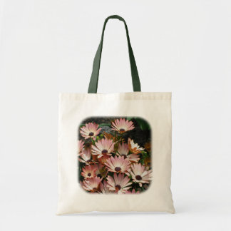 Pink African Daisies Floral Nature Tote Bag