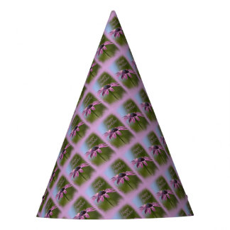 Pink African Daisy Happy Birthday Party Hat