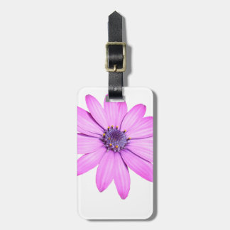 Pink Afrıcan Daisy With Transparent Background Bag Tag