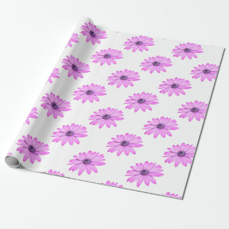 Pink Afrıcan Daisy With Transparent Background Wrapping Paper