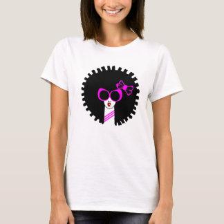 Pink afro girls t-shirt cute